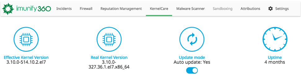 KernelCare-Imunify360