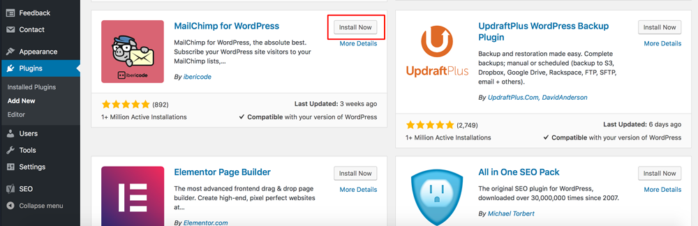 Install Plugin WordPress Dewaweb