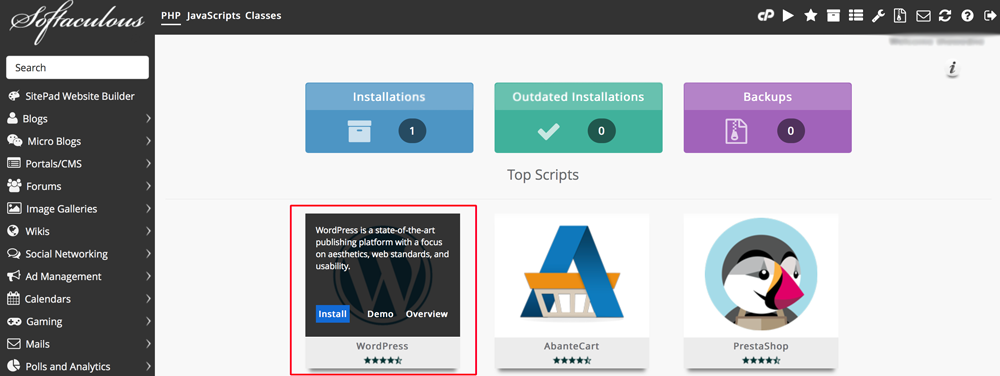 Install-WordPress-dari-Softaculous Dewaweb
