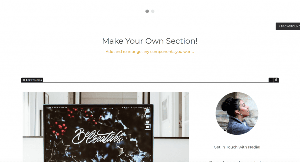Strikingly Make Your Own Section Dewaweb