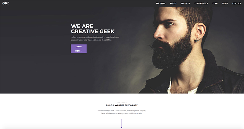 Template WordPress Meridian One