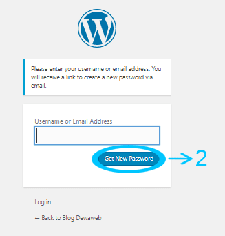 cara mengganti password wordpress get new password