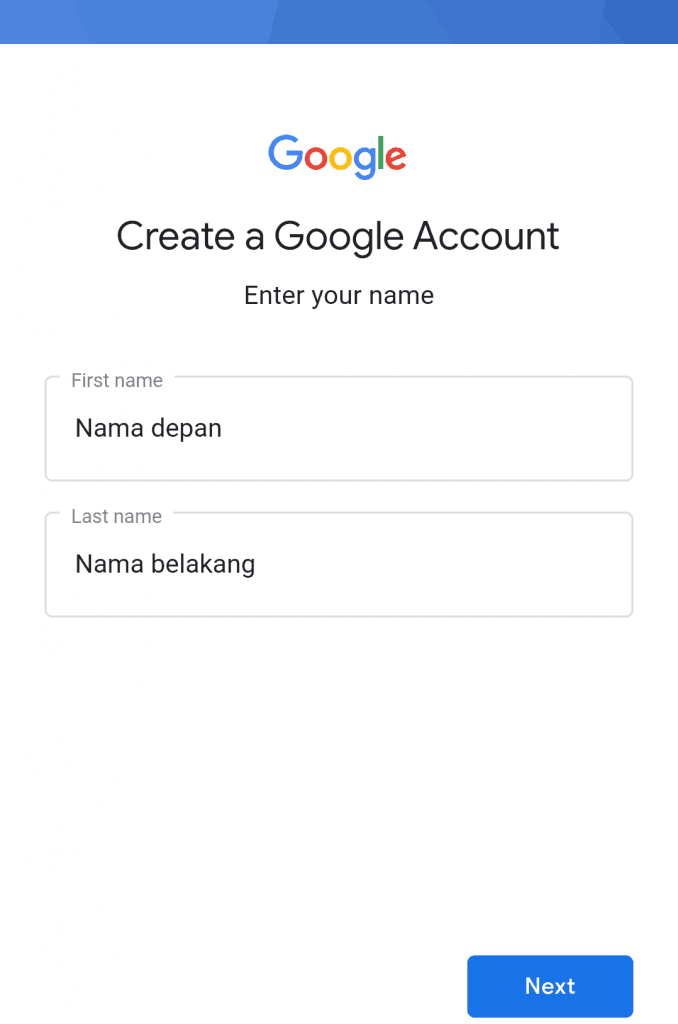 cara membuat email di HP create account