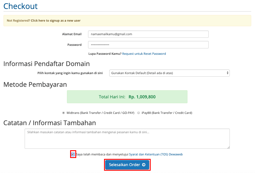 cara membuat blog checkout