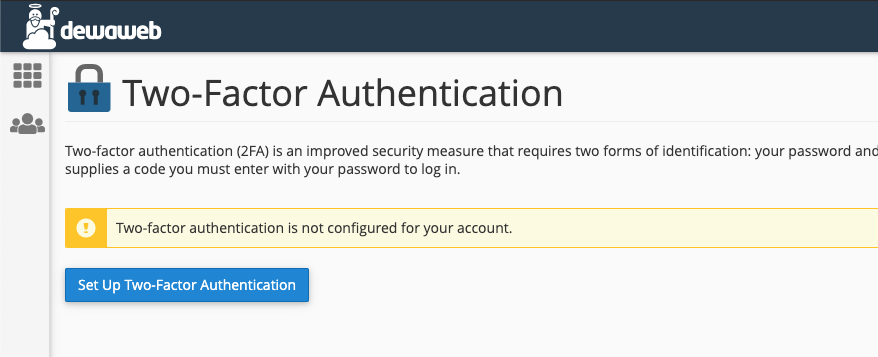 cara mengaktifkan two-factor authentication cpanel setup1