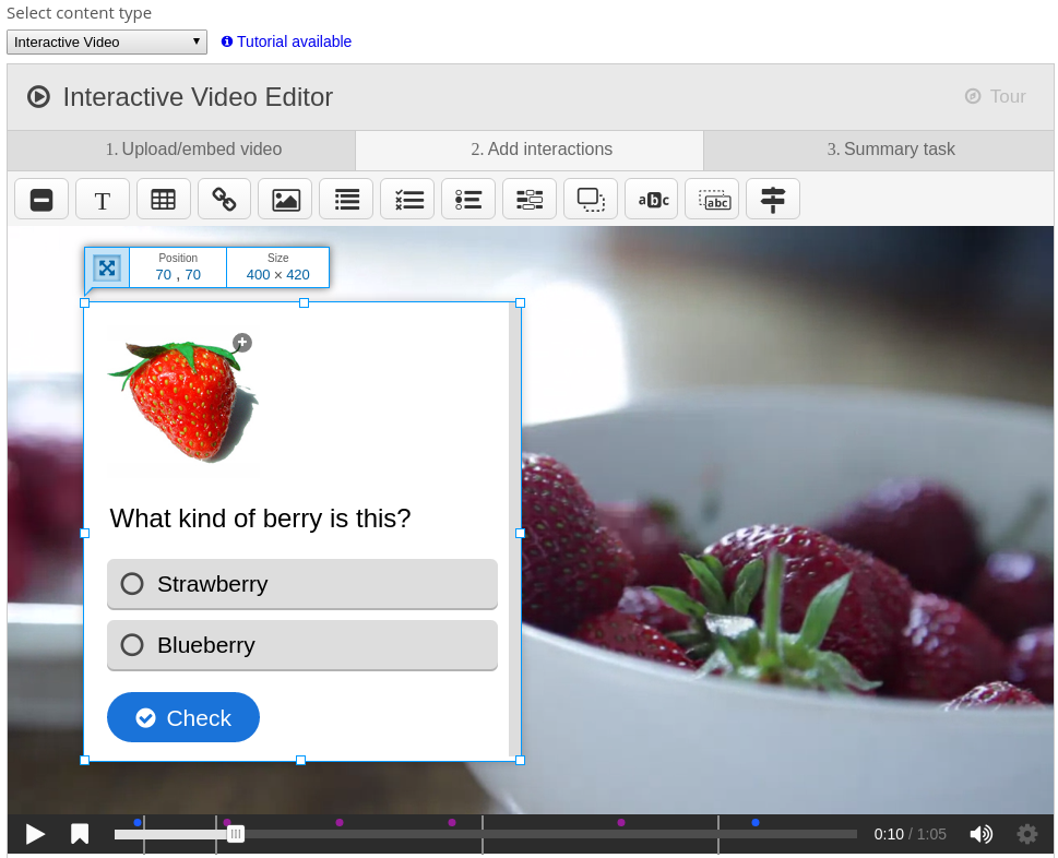 interactive content plugin for moodle